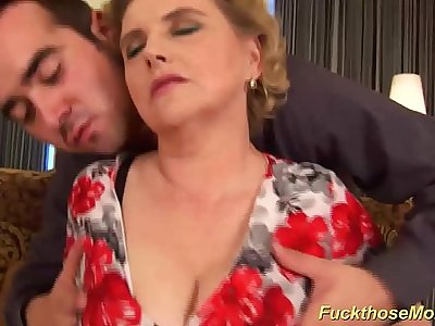 chubby hairy mom gets wild fucked