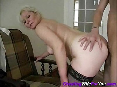 mom fucked on TV sofa