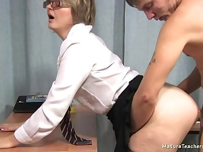 Russian mature teacher 8 - Olga (math lesson)