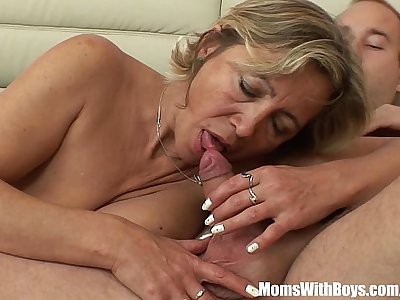 A Mature Napping Beauty In Stockings Fucked By Stepson