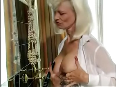 Pierced Mom Fucks Hairbrush then gets Anal. See pt2 at goddessheelsonline.co.uk