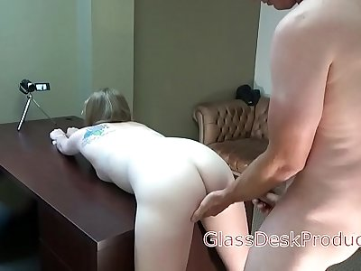 Amber got me to cum in her raw , GlassDeskProductions
