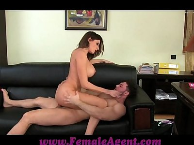FemaleAgent Massive cumshot across marvellous tits