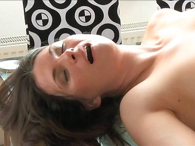 MOM Sexy brunette MILF loves his huge cock