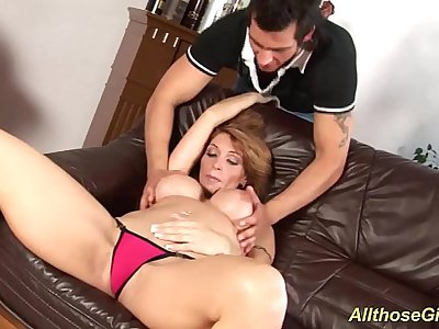 big breast Milf gets rough fucked